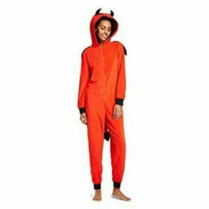 Xhilaration Hooded Devil Union Suit Onsie